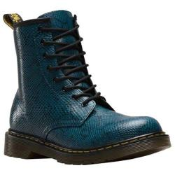 Children's Dr. Martens Delaney 8 Eye Side Zip Boot Lake Blue Viper K