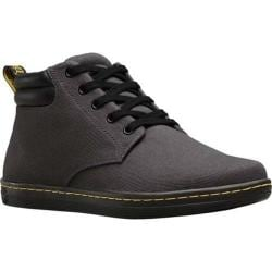 Men's Dr. Martens Maleke Padded Collar Boot Lead Overdyed Twill Canvas