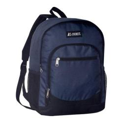 Everest Casual Mesh Pocket Backpack Navy/Black