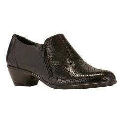 Women's Walking Cradles Cadence Slip On Black Leather/Black Patent Snake Print