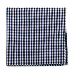 Men's Cufflinks Inc Gingham Cotton Pocket Square Black/Blue