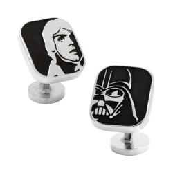 Men's Cufflinks Inc Luke and Darth Vader Cufflinks Black 20552800