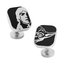 Men's Cufflinks Inc Luke and Yoda Cufflinks Black 20552803