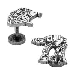 Men's Cufflinks Inc Snowspeeder/AT-AT Walker Battle of Hoth Cufflinks Silver