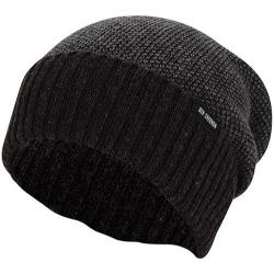 Men's Ben Sherman Birdseye Slouch Beanie Black Heather