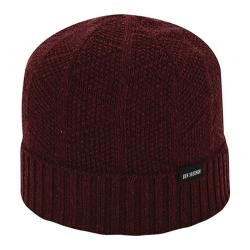 Men's Ben Sherman Textured Beanie Dark Port