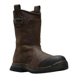 Men's Dr. Martens Rush EH Safety Toe Waterproof Rigger Boot Brown Cris Cros Waterproof