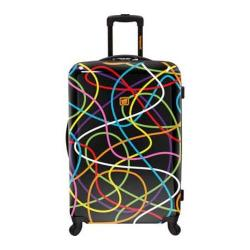 Loudmouth Luggage Black Scribblz 29in Expandable Spinner Luggage Multicolor/Black
