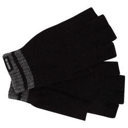 Men's Ben Sherman Tipping Striped Fingerless Knit Gloves Black Heather 20609106