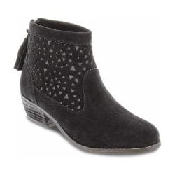 Women's Minnetonka Cut Out Boot Black Suede
