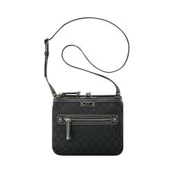 Women's Nine West 9's Jacquard Crossbody Black/Black 9S Jacquard/Luxe Pebble PU