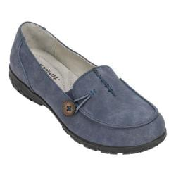 Women's White Mountain Judo Slip-On Loafer Navy Suede Smooth