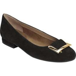 Women's Aerosoles Good Times Flat Black Suede