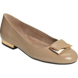 Women's Aerosoles Good Times Flat Taupe Leather