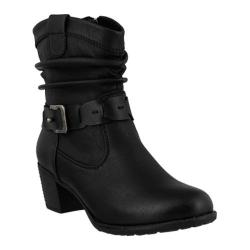 Women's Spring Step Biddy Ankle Boot Black Synthetic
