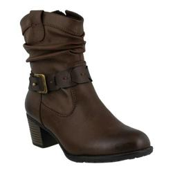 Women's Spring Step Biddy Ankle Boot Brown Synthetic