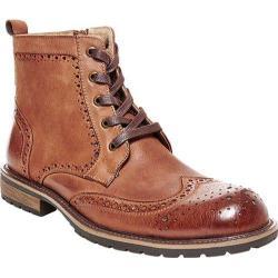 Men's Steve Madden Sprocket Wing Tip Boot Tan Leather