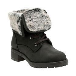 Women's Clarks Reunite Up GORE-TEX Winter Boot Black Cow Full Grain Leather/Faux Fur
