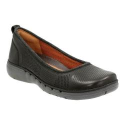 Women's Clarks Un Elita Slip-On Black Leather