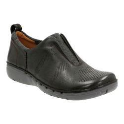 Women's Clarks Un Spirit Slip-On Black Leather