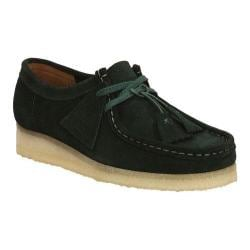 Women's Clarks Wallabee Dark Green Suede