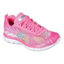 Women's Skechers Flex Appeal 2.0 Tropical Training Shoe Hot Pink/Multi