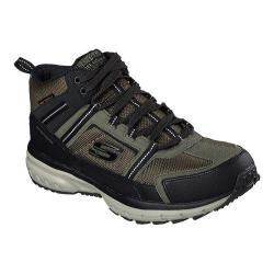Men's Skechers Geo Trek High Top Trail Shoe Olive/Black