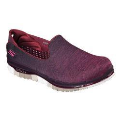 Women's Skechers GO FLEX Walk Muse Slip On Walking Shoe Burgundy