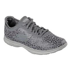 Women's Skechers GO STEP Wild Walking Shoe Charcoal 20746052