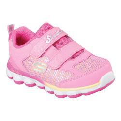 Girls' Skechers Lil Jumpers Two Strap Sneaker Neon Pink/Orange