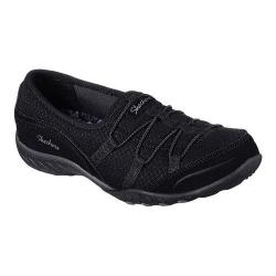 Women's Skechers Relaxed Fit Breathe Easy Blithe Bungee Lace Shoe Black