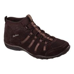 Women's Skechers Relaxed Fit Breathe Easy Established High Top Chocolate