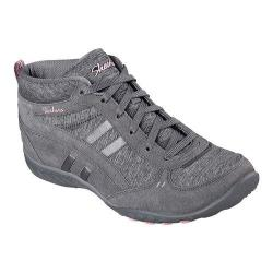 Women's Skechers Relaxed Fit Breathe Easy Shout Out High Top Charcoal