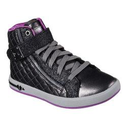 Girls' Skechers Shoutouts Quilted Crush High Top Pewter