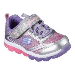 Girls' Skechers Skech Air Hi Finish Bungee Lace Sneaker Silver/Multi