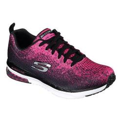 Women's Skechers Skech-Air Infinity Modern Training Shoe Black/Hot Pink 20748918