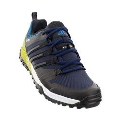 Men's adidas Terrex Trail Cross Hiking Shoe Collegiate Navy/Black/Unity Lime