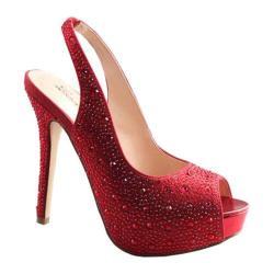 Women's Lauren Lorraine Candy Slingback Red Fabric