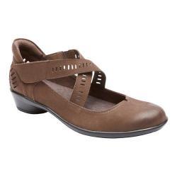 Women's Rockport Cobb Hill Victoria Cross Strap Shoe Stone Full Grain Leather