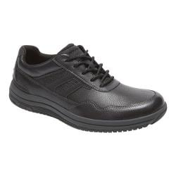 Men's Rockport Power Pace U-Bal Lace Up Shoe Black Leather