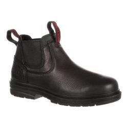 Men's Rocky 5in Elements Shale Waterproof Work Boot Black Oiled Full Grain Leather