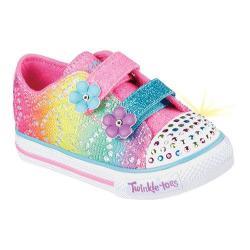 Girls' Skechers Twinkle Toes Shuffles Lil Rainbow Sneaker Multi