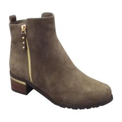 Women's VANELi Udelle Ankle Boot Fango Suede/Gold Trim/Taupe Trim