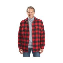 Men's Woolrich Oxbow Bend Plaid Flannel Shirt Jacket Old Red Buffalo