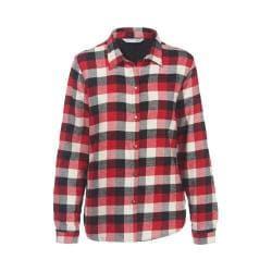 Women's Woolrich Pemberton Fleece-Lined Flannel Shirt Jacket Old Red Buffalo