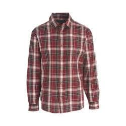 Men's Woolrich Red Creek Long Sleeve Shirt Deep Ruby