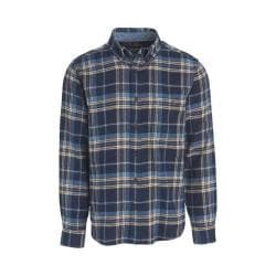 Men's Woolrich Trout Run Shirt Estate Blue