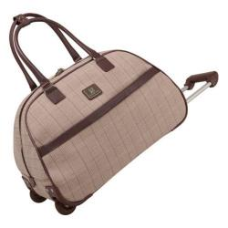 Women's Anne Klein Calgary 20in Wheeled Bowler Bag Tan/Brown Plaid