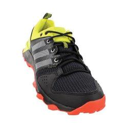 Men's adidas Galaxy Trail Running Shoe Black/White/Shock Slime 20798669