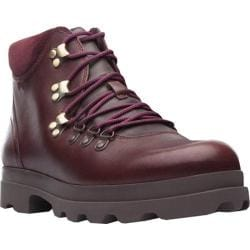 Women's Camper Mil Lace Up Boot Dark Red Smooth Leather
